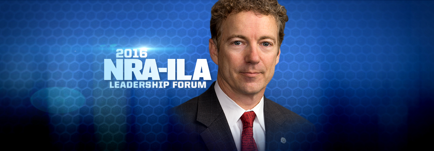 Watch: Senator Rand Paul's Speech at the 2016 NRA-ILA Leadership Forum