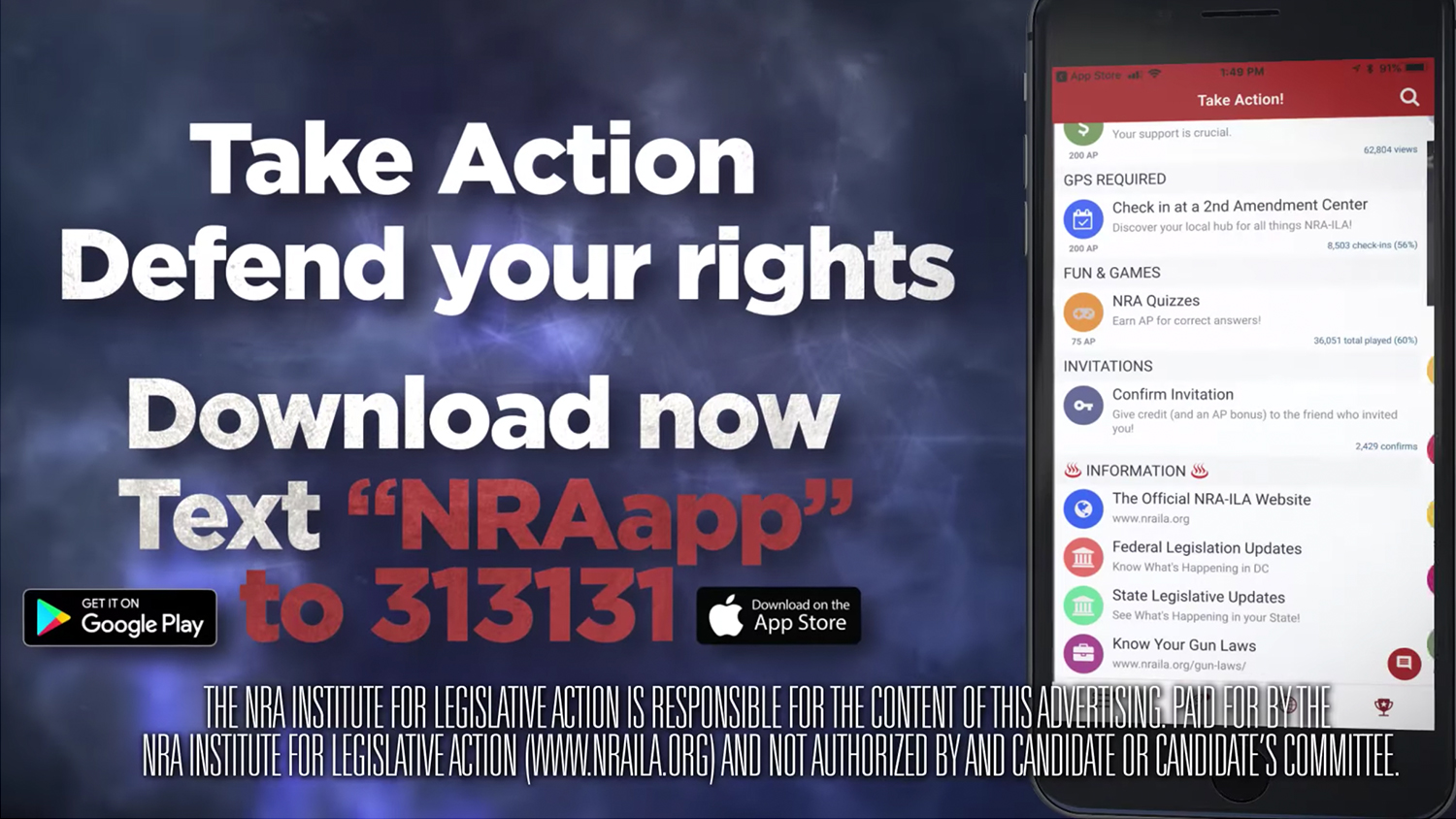 Download the NRA-ILA App Today!