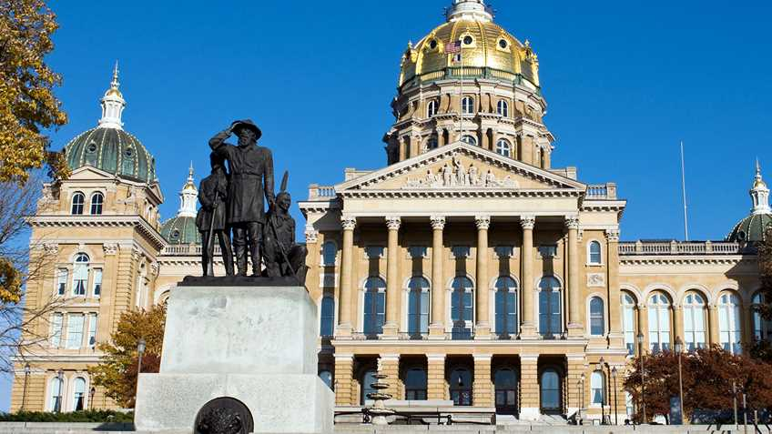 Iowa: Legislative Session Suspended