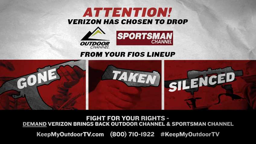 Verizon Fios Drops Outdoor and Sportsman Channels- Silencing Your Access to NRA Programs