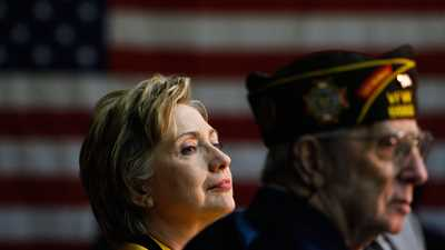 Overwhelming 81 Percent of Current and Former Military have Unfavorable View of Clinton