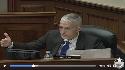 Congressaman Trey Gowdy grills Homeland Security official on Terrorist Watchlist and due process.