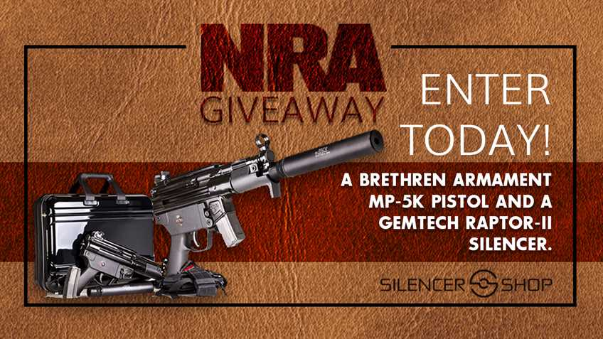 Enter the Silencer Shop NRA Giveaway!