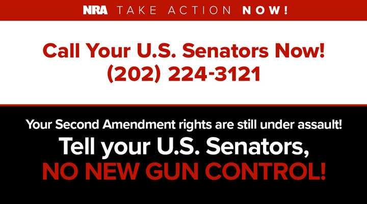 More Gun Control Votes Coming—Contact your U.S. Senators Immediately!