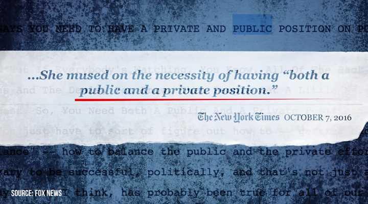 Public vs. Private Hillary Clinton