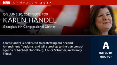 NRA Endorses Karen Handel in Georgia's 6th District Special Election