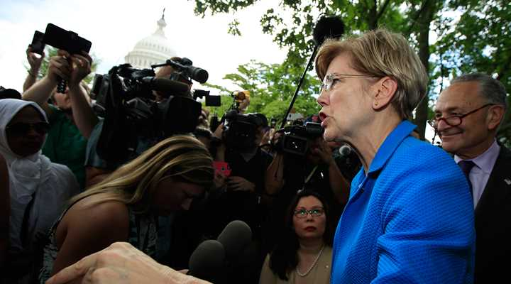 Elizabeth Warren Urges Democrats to Champion Gun Control, Shut Down Debate