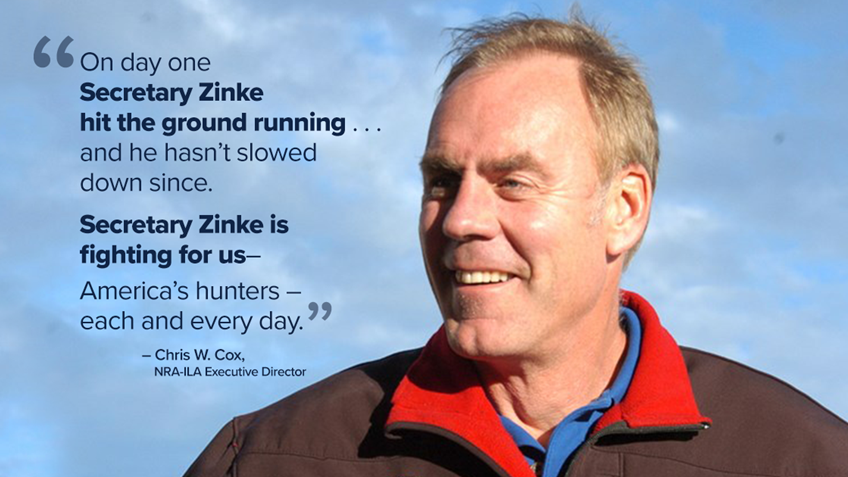 NRA: Zinke Fighting for Us