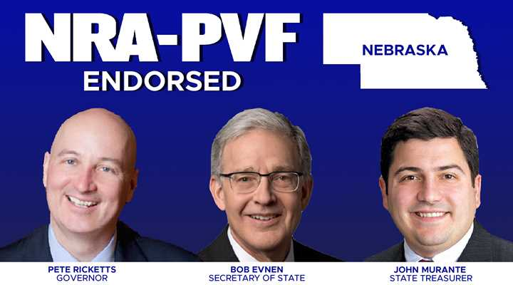 NRA Endorses Ricketts, Evnen, Murante for Top State Offices in Nebraska
