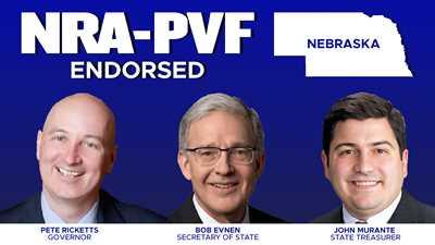 NRA Endorses Ricketts, Evnen, Murante for Top State Offices in Nebraska