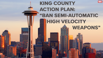 "King County Unveils ""Common Sense"" Action Plan: Ban ""Semi-automatic, High Velocity Weapons"""