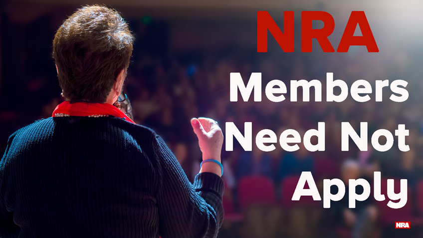 No NRA Members Need Apply
