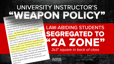 University of Utah Instructor Ostracizes Concealed Carriers