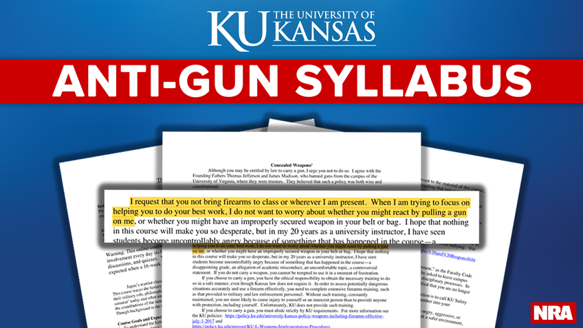 Pro-2A Student Shuts Down Anti-Gun Syllabus