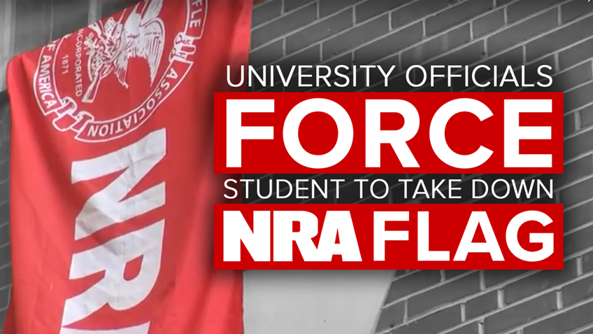Outrageous! NC University Forces Student to Remove NRA Flag from Dorm Window