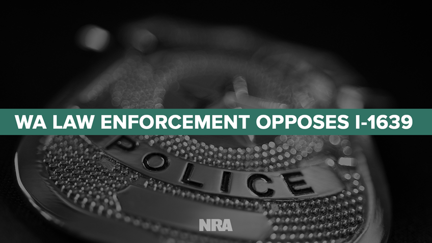Washington Law Enforcement Opposes Initiative 1639