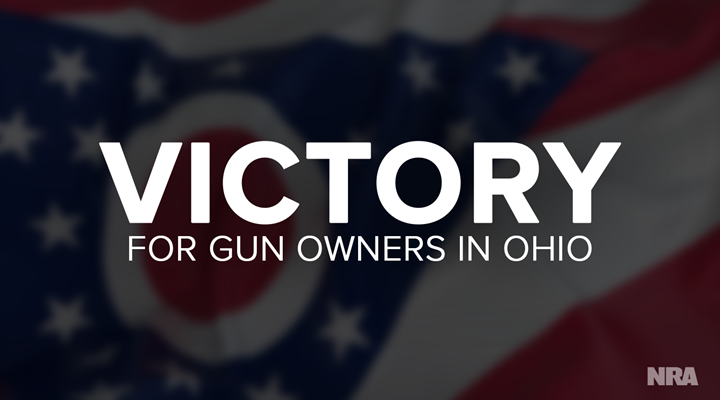 Ohio: Legislature Overrides Governor Kasich's Veto of Self-Defense Legislation
