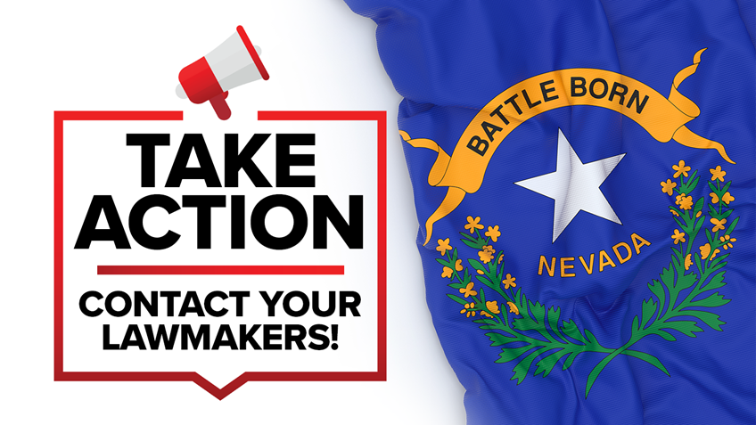 Nevada: Reminder, Hearing Tomorrow With New Updates, Contact your Legislators Today!
