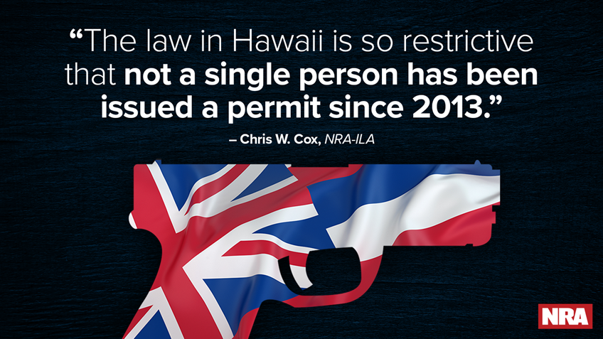 Effort Underway to Halt Hawaii's Restrictive Firearm Permitting Requirements