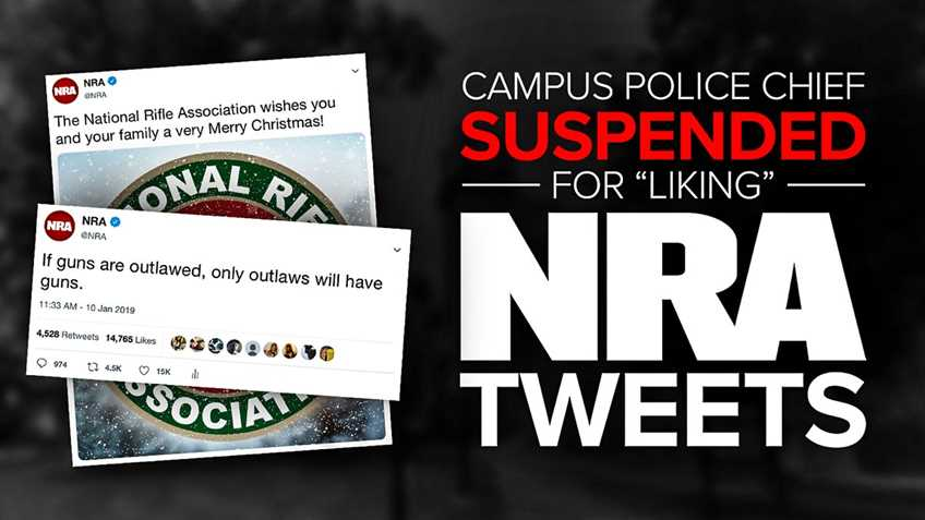 "Get the Hect Outta Here: Police Chief Suspended After Students Complain About Pro-Gun ""Likes"""