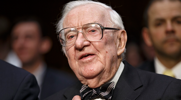 Retired Justice Stevens Continues Crusade Against Guns