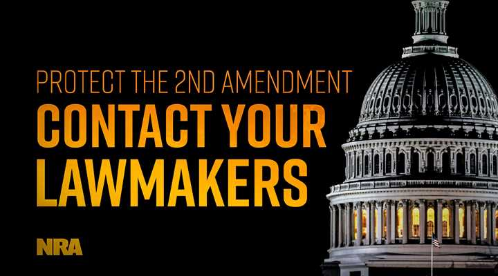 Tell Your U.S. Senators and Representative to Oppose Gun Control