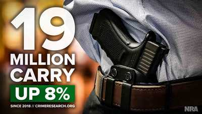 Number of Concealed Carry Permit Holders Increased Again