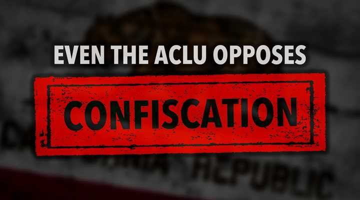 California Gun Confiscation Draws ACLU Opposition