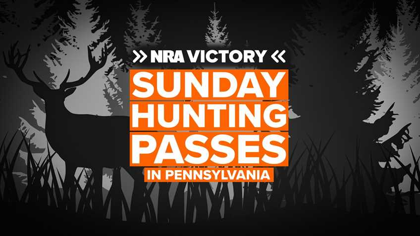 NRA Victory: PA Welcomes Sunday Hunting