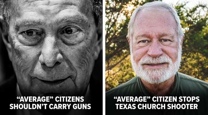 "Bloomberg Dismisses Texas Hero, Insists It Wasn't His ""Job"" to Have a Gun or Decide to Shoot"