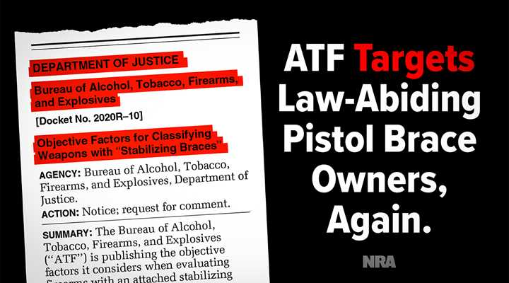Take Action: Help Stop ATF's Most Recent Assault on Law-Abiding Gun Owners