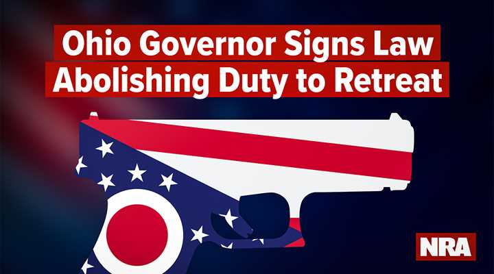 DeWine Signs SB 175 Making 'No Duty to Retreat' Ohio Law